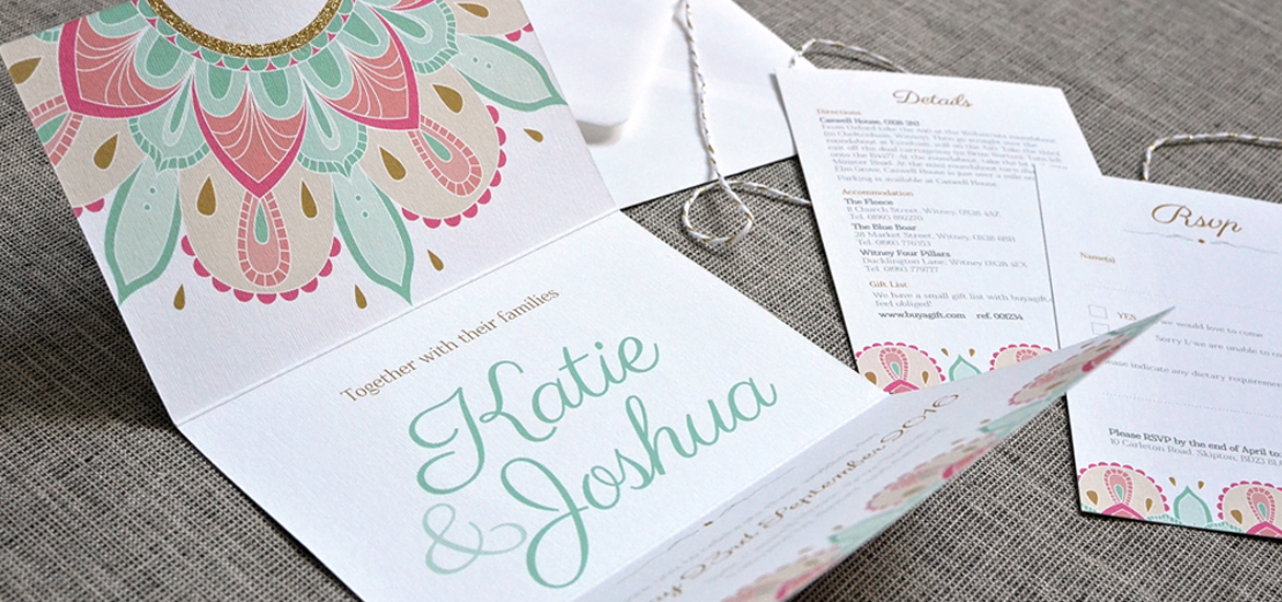NEW Indian style wedding invitation available · Littlebird Weddings