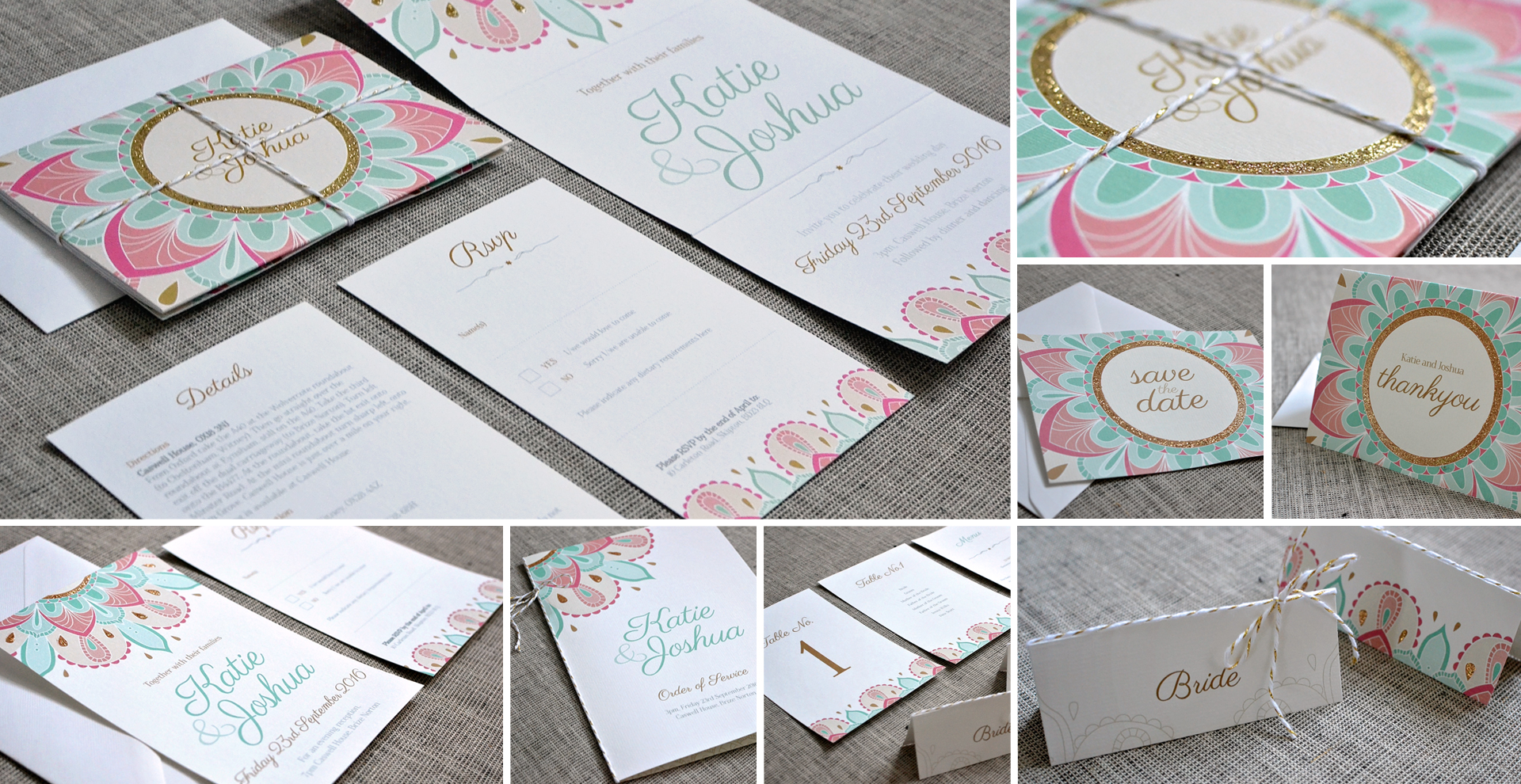 Indian wedding invitation and stationery